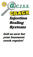 Leaky Basement Cracks Repaired