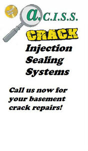 Leaky Basement Cracks Repaired Cambridge Kitchener Area image 1