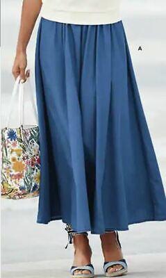 plus size 1X Panel lightweight Denim Skirt by Monroe and Main new Paneled Denim Skirt