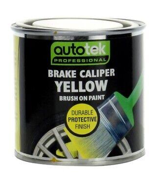 250ml Autotek YELLOW Brake Caliper Paint - Professional durable brush on paint