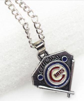 New Chicago Cubs Baseball Diamond Necklace MLB Team Logo Charm Pendant Jewelry - Logo Baseball Pendant