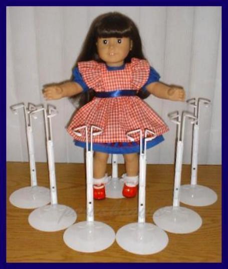 """6 White Kaiser 2601 Doll Stands for 18"""" AMERICAN GIRL Magic Attic ANNE ESTELLE"""