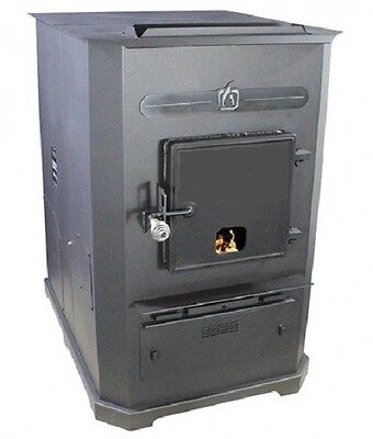 - Forced-Air II (Two) Corn Wood Pellet Multi-fuel Furnace Stove, 105,000 BTU/Hr