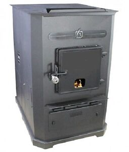 Forced-Air II (Two) Corn Wood Pellet Multifuel Furnace Stove, 105,000 BTU/Hr