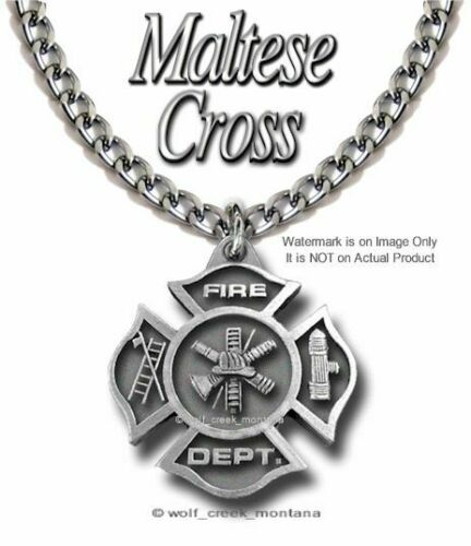 FIRE FIGHTER TRIBUTE NECKLACE STAINLESS STEEL CHAIN FIREMAN RESCUE FREE SHIP #P
