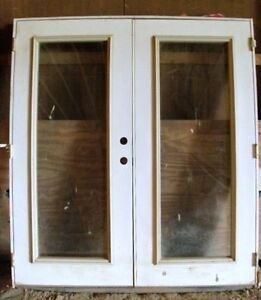 New exterior steel solid wood core door entry system double french glass doors ebay for Wooden double glazed french doors exterior