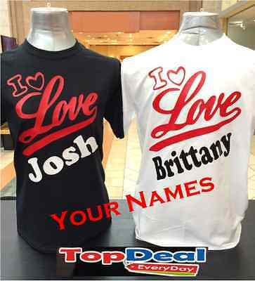 Valentines Day Couple T-shirt Custom Name For couples](Couple Customs)