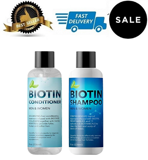 Biotin Shampoo and Conditioner Hair Loss Treatment for Thinn