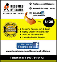 ★★★ Best Resume Service in Town ~ NO OBLIGATIONS!