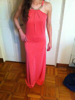 Roberto Cavalli coral gown