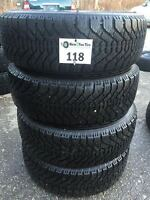 4-P205/65/15 Goodyear Nordic Snow Tires on 5x114.3 installed
