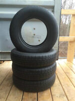 4 - P155/80/13 Steel Radial tires - SALE installed, no tax