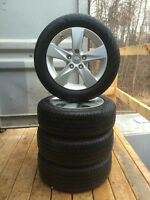 4 - P205/55/16 Continental ContiPro Contact tires on 5x114.3 rim
