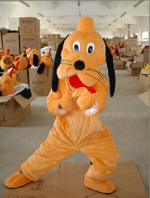 Easter Pluto Dog Mascot Costume Fancy Kids Birthday Party Game Dress Adults Size