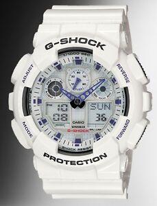 Casio-G-Shock-GA100A-7A-Anti-Magnetic-Anadigi-Watch-X-Large-White-Resin-Men