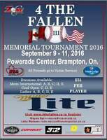Memorial Softball Tourney Sept 9-11 Powerade centre