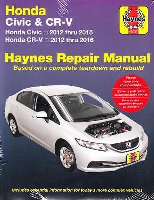 2012 2013 2014 2015 2016 Honda Civic Honda CR-V Haynes Repair Shop Manual 2255X