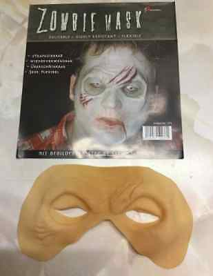 Zombie Mezzo Viso Protesi in Latex Cosplay Adulti Uomo Maschera per Costume