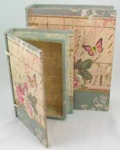 Shabby Style Floral Book Storage Boxes | Set of 2 Chipping Norton Liverpool Area Preview