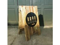 Heavy Duty Hand Crafted Wooden Pallet Sandwich Board | A Board | Shop Sign | A-Frame