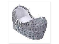 Clair de lune moses basket, grey. Excellent condition. £50