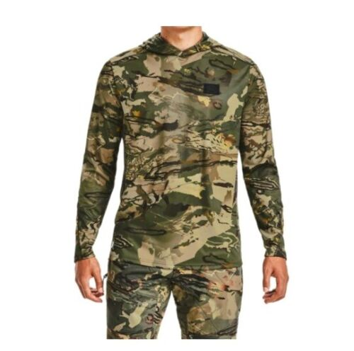 Under Armour UA ISO-Chill Brush Line Mens Forest 2.0 Camo Longsleeve Hunt Hoodie
