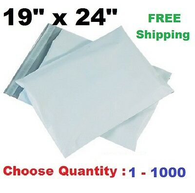 19x24 Poly Mailers Plastic Shipping Envelopes Self Sealing Mailing Bags 1-1000