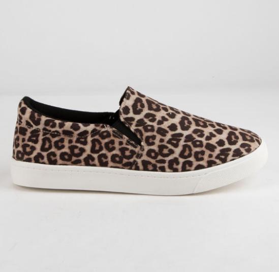 Women's Soda Reign Slip on Sneaker - Oatmeal Cheetah - HOT ITEM!!