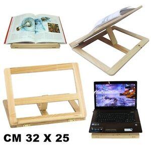 Leggio supporto in legno da tavolo per spartiti libri tablet notebook cm 32x25 - Leggio da tavolo per studiare ...