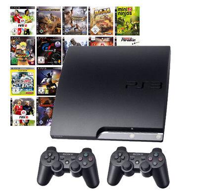 Playstation 3 / PS3 Konsolen Set mit 3-10 Spielen und 1-2 Sony Controller