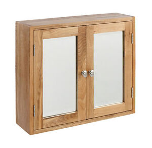 details about lansdown oak large bathroom cabinet mirror light oak