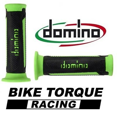 <em>YAMAHA</em> XS500  BLACK  GREEN DOMINO TURISMO HANDLE BAR GRIPS