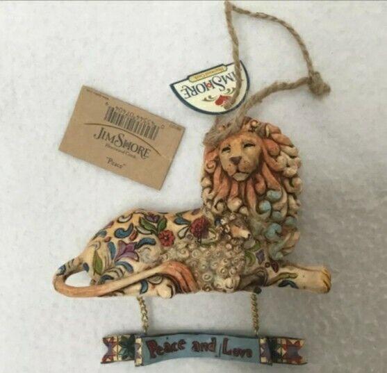 2006 Jim Shore Peace And Love Lion &  Lamb Christmas Ornament MINT Orig Box 🎁