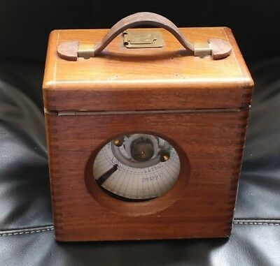 Vintage Racing Pigeon Clock In Wooden Case Automatic Timing Clock Co. Working
