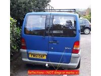 VITO W638 Pair of Rear Barn Doors Complete Glazed Wipers Heat Deadlock FAB condition.