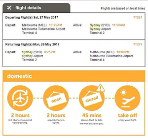 FREE!!!!!One way ticket from Sydney to melbourne Haymarket Inner Sydney Preview