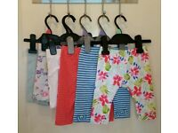 6 pairs of girls shorts & cropped leggings sized 18-24 months / 1.5-2 years (willing to separate)