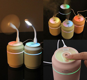 3-in-1 Mini Humidifiers/Mist Diffusers with LED Light + USB Fan