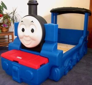 LITTLE TIKES THOMAS the TANK ENGINE TODDLER BED - As New