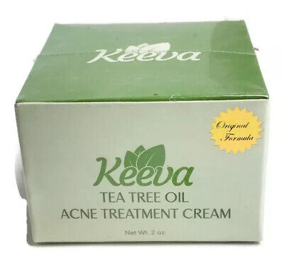 Keeva Organics Acne Treatment Cream W/ Tea Tree Oil - Advanced Formula Scars 2oz