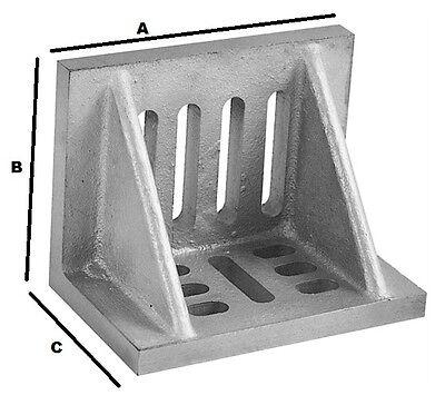"SLOTTED ANGLE PLATES (WEBBED) 4-1/2 x 3-1/2 x 3"""