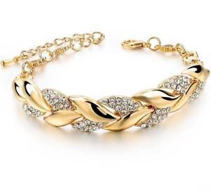 TOUCHEART Braided Gold color Leaf Bracelets