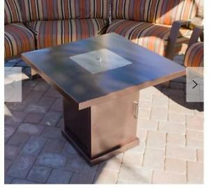 For Sale A Brand New Conventional Steel Propane Fire Pit Table.....$175