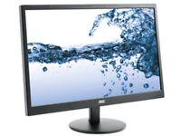 "AOC E2270SWDN 21.5"" LED-backlit Monitor 1920 x 1080 (HD 1080) BNIB"