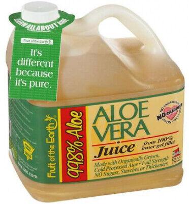 Aloe Vera Juice 128 Fl Oz Drink Pure Gel Organic Liquid Moisture Face Skin Body