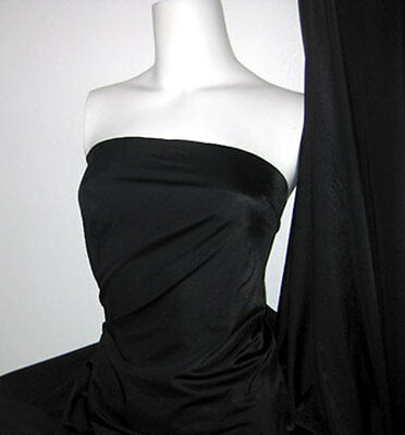 (Black Lycra/Spandex 4 way stretch Finish Fabric)