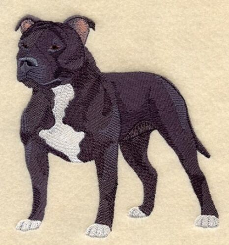 Large Embroidered Zippered Tote - Staffordshire Bull Terrier C4894