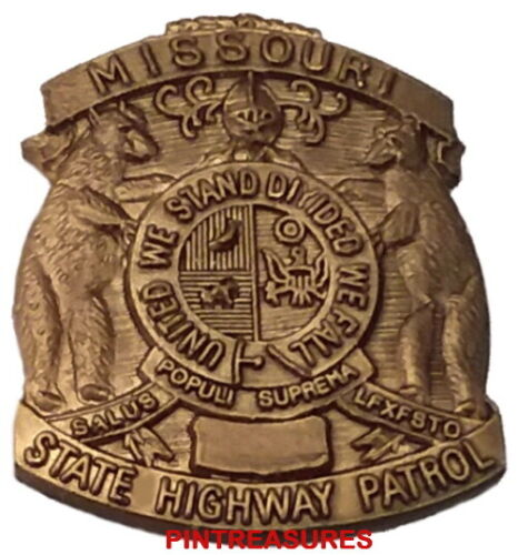 Missouri State Trooper Pin Mini Police Hat Crest Badge MO Vintage Collector Pins