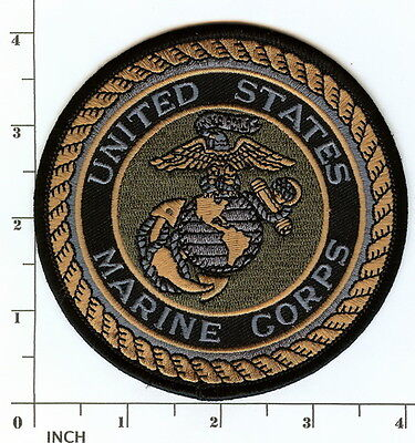 """USMC United States Marine Corps 4"""" subdued OD PATCH Eagle-Globe-Anchor ! Marines"""