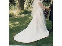 Ivory wedding dress, size 16